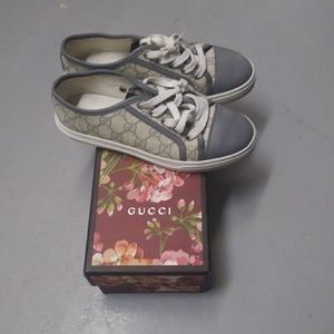Gucci Shoes - Gucci Gray GG Sneakers